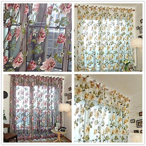 Türkei Adidas Orchid Peony Drucken Vorhang Voile Tür Fenster Vorhänge mit Trennwand Schal mit zum 78,7cm x 39,4cm C