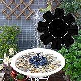 Xshuai Outdoor Schwimmendes umweltfreundliches Design Solarbetriebenes 160 x 160mm Vogelbad Wasserbrunnenpumpe für Pool, Garten, Aquarium (Schwarz)