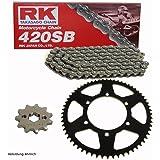 f/ür Suzuki DR-Z 400 SM 05 Ritzel + Kettenrad + Kette JS1B8 183-802 Enuma Kettensatz