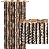 Arsvita Fadenvorhang Lurex-Optik Fadengardine Türvorhang mit Ösen, Trendige Dekoration in Vielen Verschiedenen Ausführungen erhältlich (140x250 cm/Gold - Gelbgold)