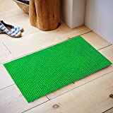 #7: Kuber Industries™ Dirt Rubb Off Clean Footwear PVC Thick Doormat for Offices,Hotel ,Restaurtaurant, Home,Shop Color- Green Size : 60 cm x 38 cm x 1.5 cm