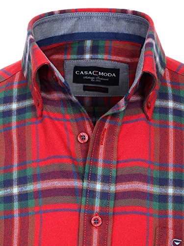 CASAMODA Messieurs Chemise d'affaires 431879000 regular fit facile à repasser Rouge