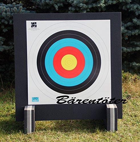 Bogenzielscheibe 80x80x10 mit Fita-Auflage und Ständer
