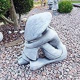 Steinfigur Chinese BUDDHA Reis Bauer Gartenfigur