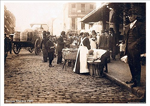 boston-market-vintage-american-street-scene-1909-stunning-highly-detailed-a4-glossy-art-print-exclus