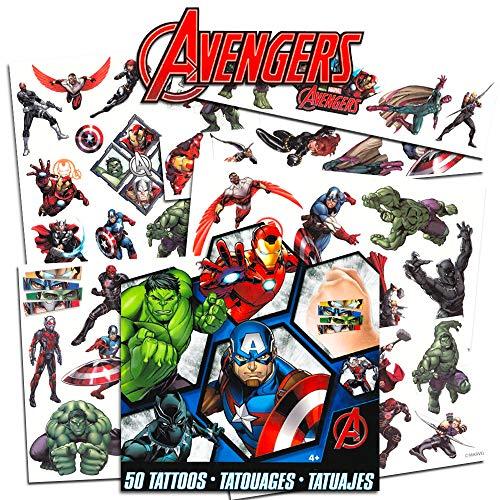 Marvel Avengers 50 temporaere Tattoos, Hauttattoos - USA -