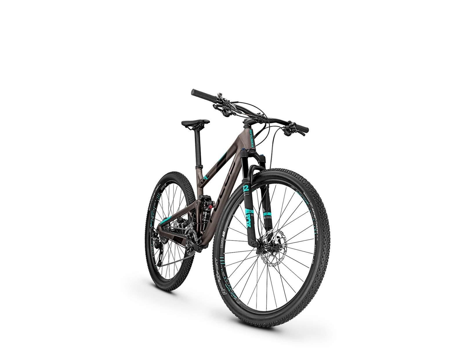 Focus O1E SL 29 Mountain Bike titanio opaco/aquablue