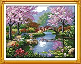 DIY Needlepoints Counted Cross Stitch Kits Embroidery Kit Home Decor The Beautiful Scenery of Park