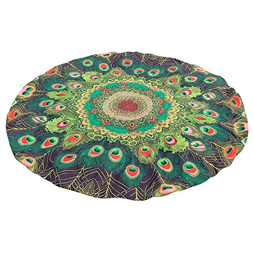 Sonnena Collection Serviette De Plage Ronde Tapisserie avec Épaisse Coton Ultra-épais Tapis Mat Yoga Hippie Beach Ete Cadeau Serviette De Plage Pas Ch