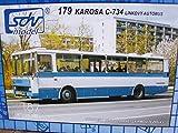 SDV Bus Karosa C-734 Linien BUS blau weiss Fahrzeuge Ostblock Modellbau Kunststoff Modellbausatz 1:87 H0