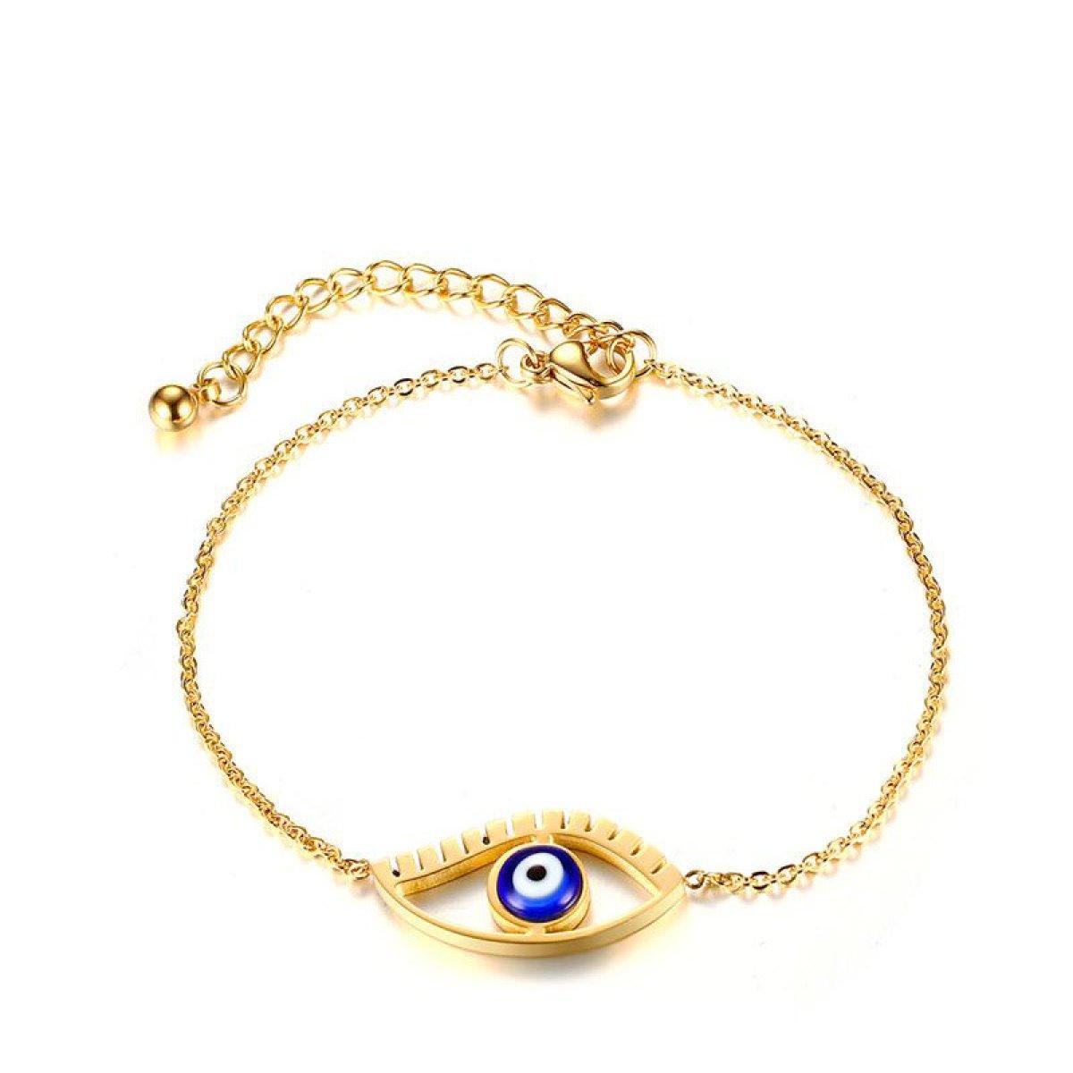 WenL Blu Horus Eye Braccialetto Registrabile Per Le Donne Lunghezza 18 Centimetri