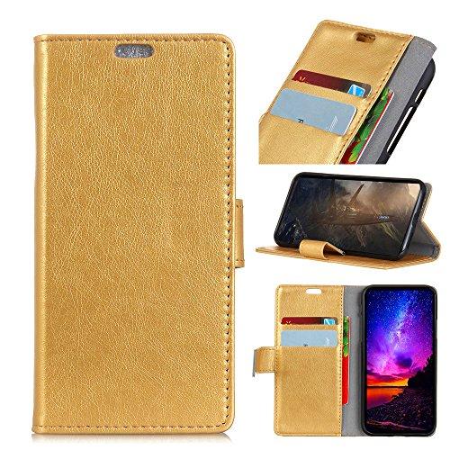 Wendapai Nokia 8 Brieftasche Hülle, Nokia 8 Flip Hülle, Classy schlank Leder Brieftasche, ID Credit Kartenschlitz Holder zum Nokia 8-Golden