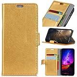 Nokia 5.1 Case,Nokia 5.1 Case,Wallet Premium PU Leather Wallet Snap Case Wallet Wallet Flip Case Compatible With Nokia 5.1 Golden