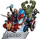 Marvel Superhelden Comic – The Avengers Film – Captain America, Hulk, Iron Man, Thor, Hawkeye, Black Widow Wand Aufkleber Aufkleber Giant Schwarz