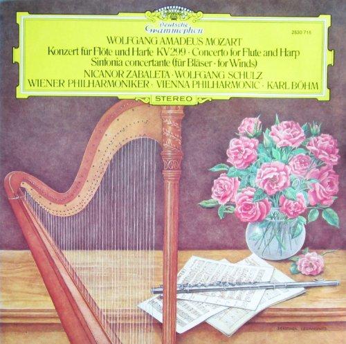 Mozart: Konzert für Flöte und Harfe mit Orchester C-dur KV 299 & Sinfonia concertante Es-dur KV 297b [Vinyl LP] [Schallplatte]