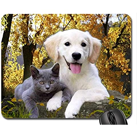Dog amd cat Mouse Pad, Mousepad (Dogs Mouse Pad)
