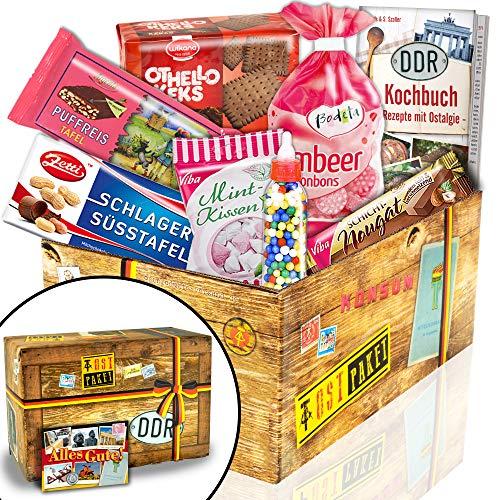Ostprodukte und Ost Waren als DDR Geschenksets ++ Süßigkeitenboxen & Boxen für echte Männer ++ Produkte aus der ehemaligen DDR – nostalgisch und traditionell ++ inkl. kreative Geschenkverpackung mit tollen Ostmotiven