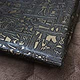 Hongma Lederstoff Ägyptisches Muster PU Leder A4 Größe