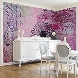 Apalis Vliestapete Blumentapete Writing You...! Fototapete Breit | Vlies Tapete Wandtapete Wandbild Foto 3D Fototapete für Schlafzimmer Wohnzimmer Küche | rosa, 95049