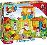 #9: Saffire Warm Family House Construction Set, Multi Color (46 Count)