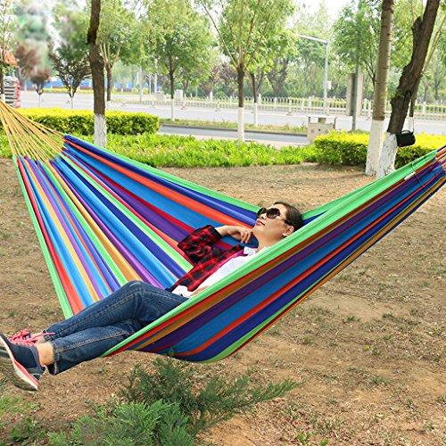 XMM High-End-Outdoor-Freizeit-H?ngematte erweitert dicker Leinwand H?ngematte Swing Vaterschaft Doppel-H?ngematte