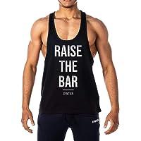 GYMTIER Mens - Raise The Bar - Stringer Bodybuilding Muscle Vest Tank Top Gym