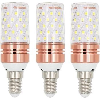EEFUN E14 Bombilla LED - 12W / 1200LM, Rosca Edison pequeña (SES), Equivalente a Bombilla halógena de 100W, Blanco frío 6000K, Pack de 3 [Clase de ...