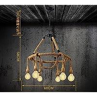 SJUN—Country Americano Corda Creativo Lampadario D'Epoca Caffetteria Bar Illuminazione,C
