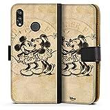Huawei P20 Lite Tasche Leder Flip Case Hülle Disney Minnie & Mickey Mouse Geschenke Merchandise