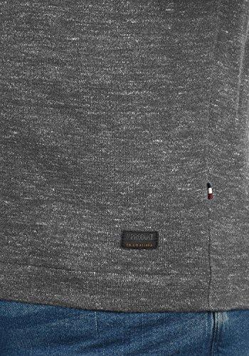 PRODUKT Primus Herren Strickpullover Feinstrick Pulli Longsleeve mit Rundhals-Ausschnitt aus hochwertiger Baumwollmischung Meliert Grey Melange