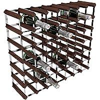 RTA GLOBAL - Porta-bottiglie di vino, 49 posizioni, in acciaio/mogano, marrone - Arredamento - Confronta prezzi