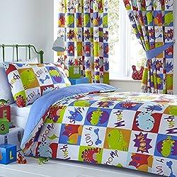 Los dinosaurios niños juego de cama individual COVET