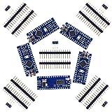 SODIAL 5set Nano V3.0 ATmega328P 5V 16M Module de carte micro-controleur pour Arduino