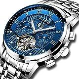 LIGE Impermeable para Hombre Acero Inoxidable Reloj Mecánico Automático de Lujo de Negocios Vestido de Reloj de Pulsera …