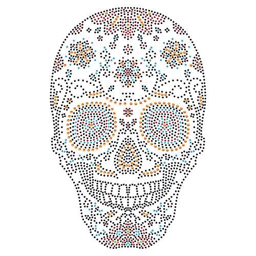Twisted Envy Sugar Skull Iron On Hotfix brillantini, motivo: strass trasferimento - Hot Fix Gioielli