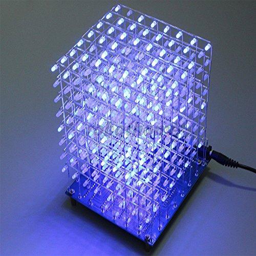 Kit LED Cubo Blu Ray 3D DIY 8x8x8 LightSquared