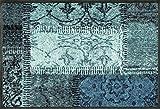 Wash&Dry 088738 Vintage Patches türkis Fußmatte, Acryl, grün, 50 x 75 x 0.7 cm
