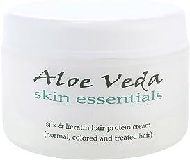 Aloe Veda Silk and Keratin Hair Protein Cream, 100g