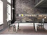 Altacom Esstisch Pisa | Tisch | Küchentisch | Schiefer Optik | 180 x 90 cm mit kratzfester Melamin Oberfläche