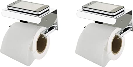 STEELERA Toilet Paper Holder in Bathroom,Toilet Paper Holder AISI 304 Stainless Steel with Mobile Stand Toilet Paper roll Stand,Toilet Tissue Holder Pack of 2 (2)