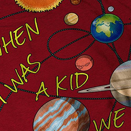 Wann ich War EIN Kind Solar System Damen S-2XL Muskelshirt | Wellcoda Rot