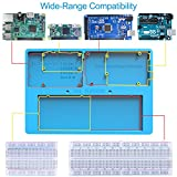 Kincrea 7 in 1 RAB Holder Für Arduino Breadboard Holder Kit Set RPi GPIO Breakout Expansion Board 830 Punkte Lötfreie Leiterplatte Widerstände für Arduino Uno R3 Mega 2560