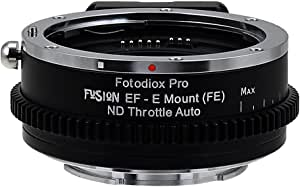 Vizelex Fusion Nd Throttle Smart Lens Adapter Compatible With Canon Eos Ef Lenses On Sony E
