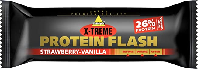 Inkospor X-Treme Protein Flash Riegel, Strawberry-Vanilla, 30 x 65g