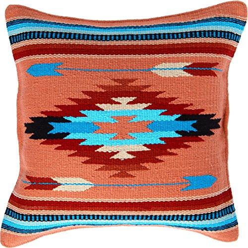 """Threads West Fäden West Cabo Kissenbezug 18x 18, Southwest, Mexikanischen von Hand Gewebt, und Native American Styles. Handgefertigt Western Dekoratives Kissen Fällen 18\"""" x 18\"""" Cabo 6"""