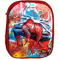 CoolGenX Spiderman School Bag With Printed For Kids Upto 5 Years - Fabric Color May Vary