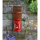 Tied Ribbons Metal Decorative Iron Lantern With Wooden Shelve For Lawn And Garden Balcony Home (28 Cm X 12 Cm X 12 Cm)