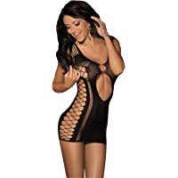 LVYI Women Mini Dresses Sexy Seamless Cut Out Bodysuit Nightwear Lingerie for Sex
