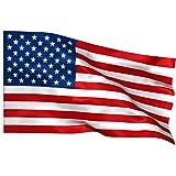 TRIXES Bandiera Americana 150 cm x 90 cm - Stelle e Strisce - 5 Piedi x 3 Piedi - Bandiera per Eventi Sportivi y per Il 4 Lug