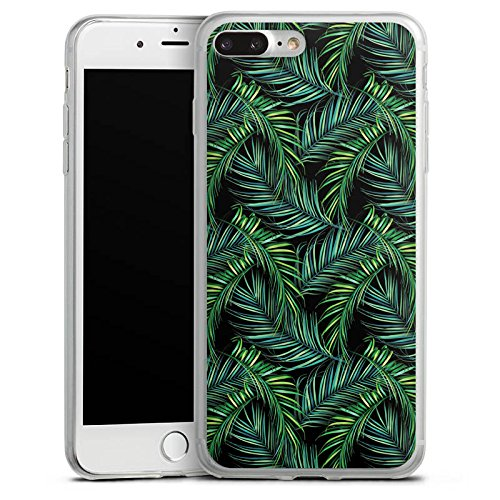 Apple iPhone X Slim Case Silikon Hülle Schutzhülle Palmen dschungel Natur Silikon Slim Case transparent